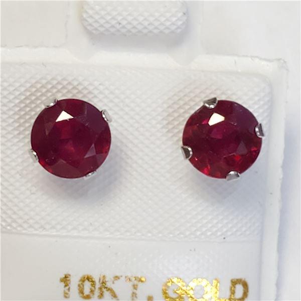 10K RUBY(2.1CT) EARRINGS