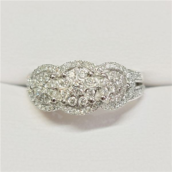 10K DIAMOND (0.5CT) DIAMONDS (0.2CT) RING SIZE 7