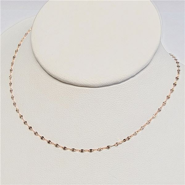"""18K ROSE GOLD CHAIN NECKLACE 16"""""""