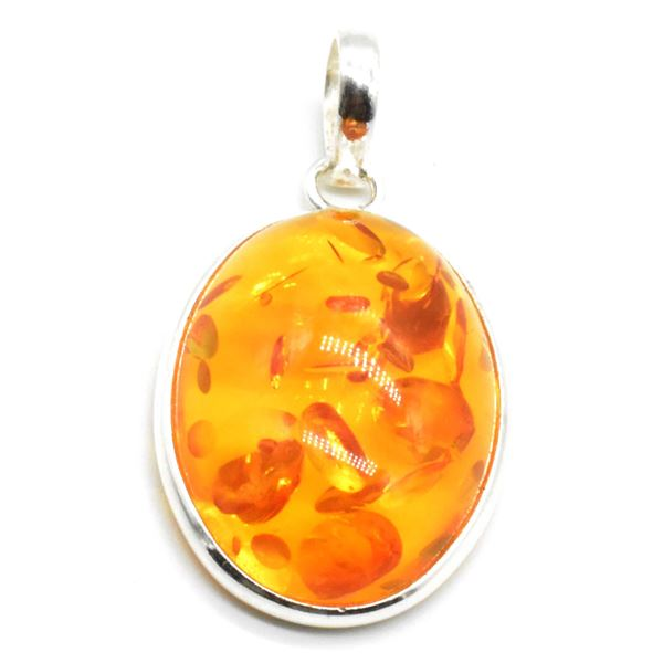 SILVER AMBER (RECONSTITUTED)(8.5CT) PENDANT