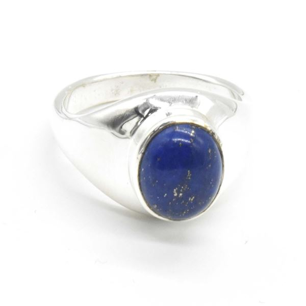 SILVER LAPIS(4.35CT) RING SIZE 10