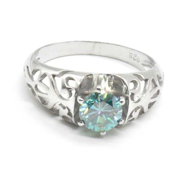 SILVER MOISSANITE(1.16CT) RING SIZE 10