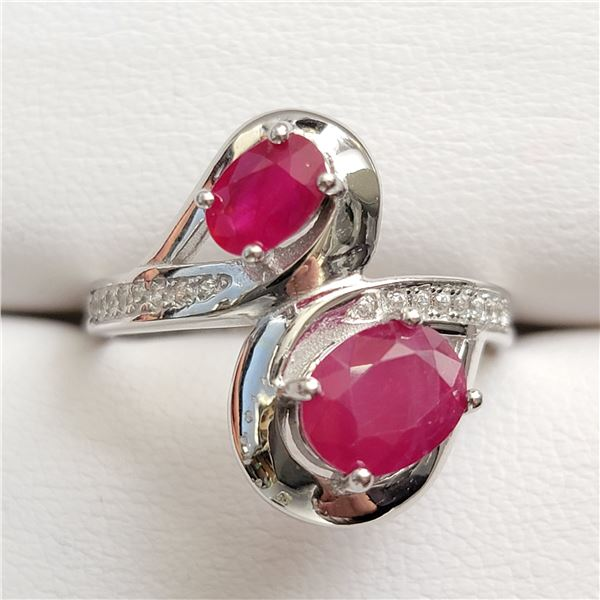 SILVER RUBY(2CT) RING