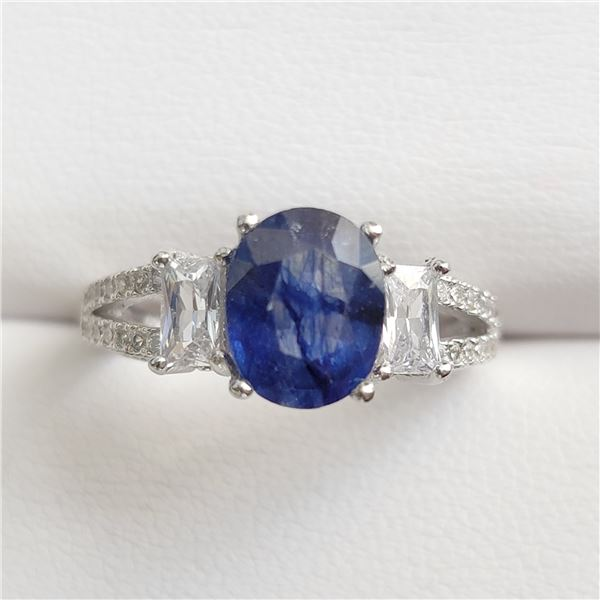 SILVER SAPPHIRE(2.4CT) RING