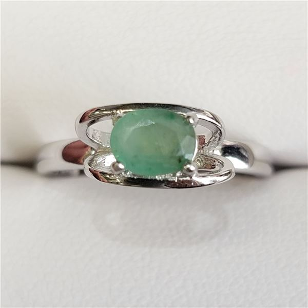 SILVER EMERALD(1CT) RING