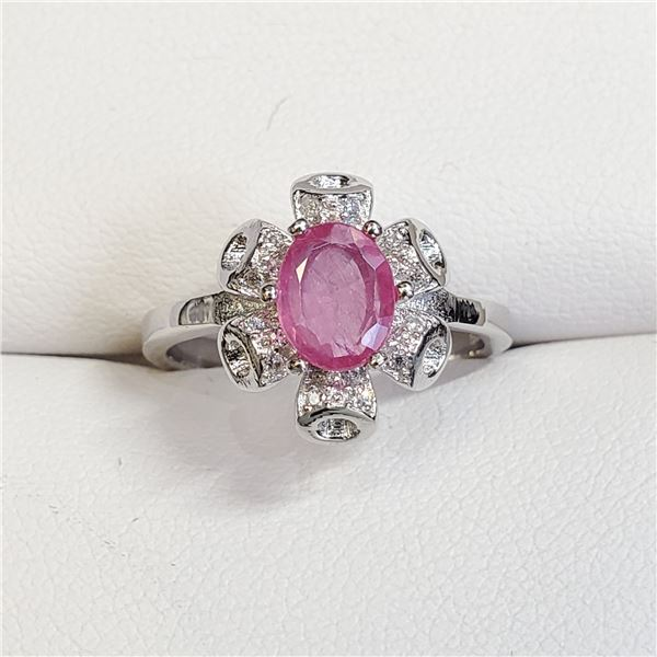 SILVER RUBY(1CT) RING