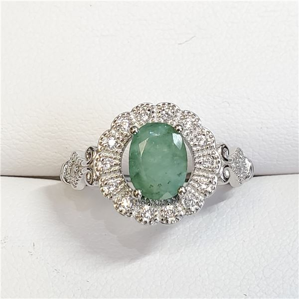 SILVER EMERALD(1.6CT) RING