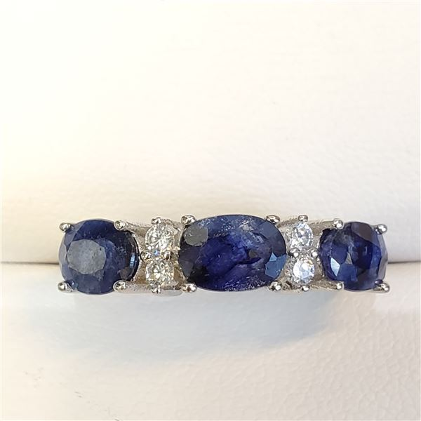 SILVER SAPPHIRE(3CT) RING