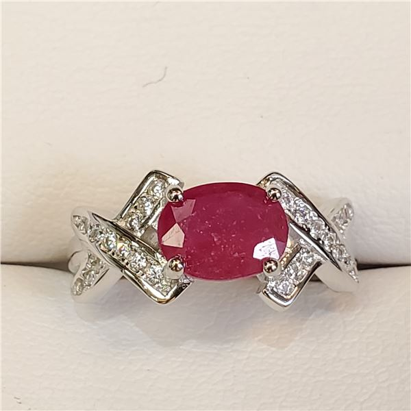 SILVER RUBY(1.6CT) RING
