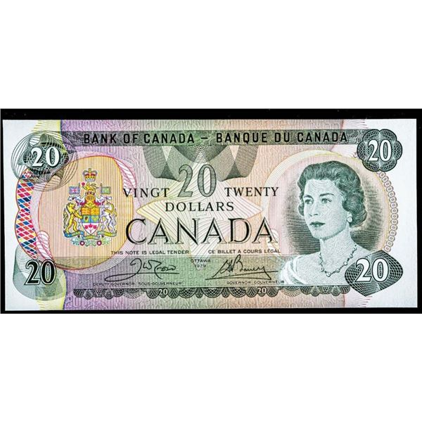 OLMSTEAD Original Bank of Canada 1979 $20 CBN  Steel Choice UNC