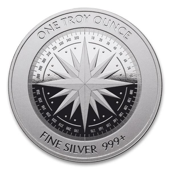 """Investors Lot - Tube of 20 Coins - """"Compass Rose""""  .9999 Fine Pure Silver Rounds. 1oz. Each - Total"""