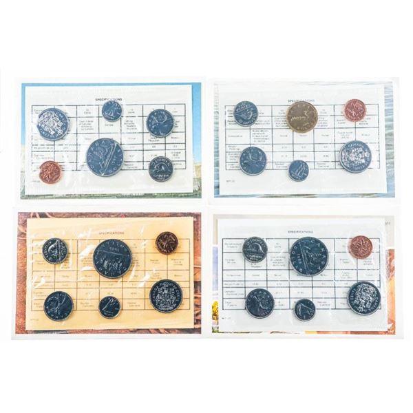 Group of 4 RCM UNC PL Coin Sets 1985-1988