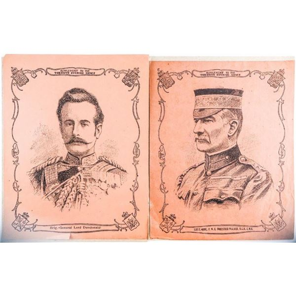 Lot 2 Vintage 8 x 10 World War Soldiers -  Supplement To The Evening News