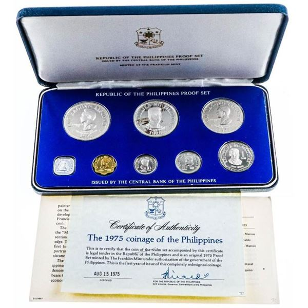 Republic of The Philippines 1975 Proof Coin Set-  Silver