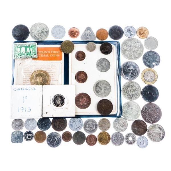 Estate Bag/Lot Mixed Coins /Tokens/Etc.