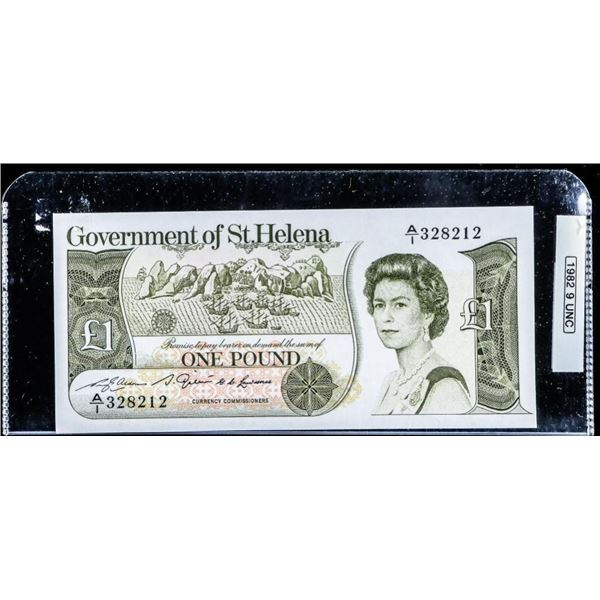 Olmstead Original Government of ST. Helena One  Pound 1982 UNC 9