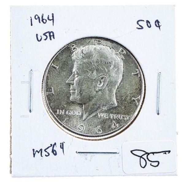 1964 USA JFK Silver Half Dollar