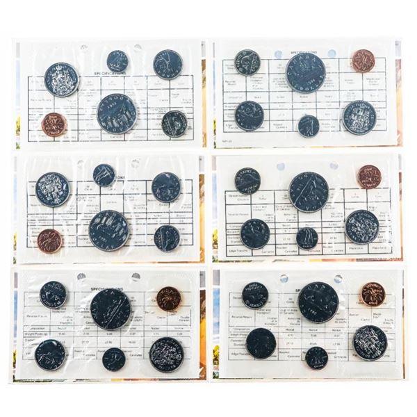 Group of 6 RCM UNC PL Coin Sets 1979-1984