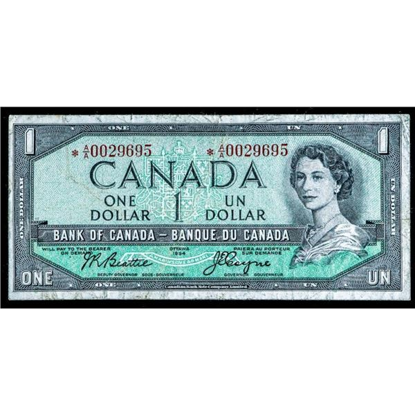 OLMSTEAD Original Bank of Canada 1954 $1 *AA  Replacement