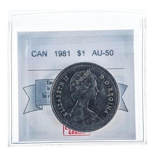 1981 Canada $1 AU 50 UNC