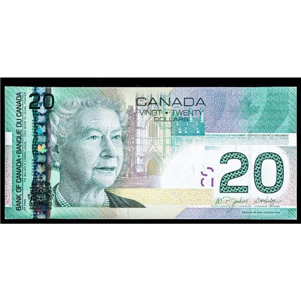 """OLMSTEAD Original Bank of Canada 2004 $20 """"EYI""""  (9.36 -10.0) GEM UNC"""