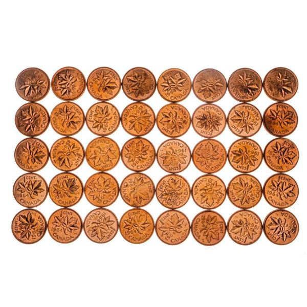 Bag lot 1964 Canada One Cent Coins