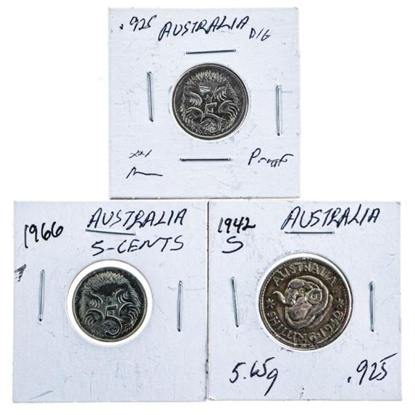 Lot 3 Australia - .925 Silver Coins