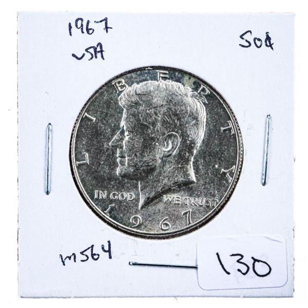 1967 JFK USA Silver 50 Cents MS64