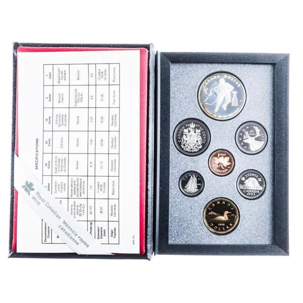 RCM 1993 Proof Coin Set w/ Silver