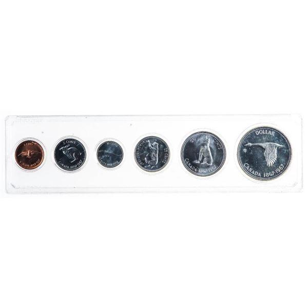 1867-1967 Canada Year Set 1.1 oz. Fine Silver