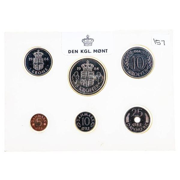 Denmark UNC Coin Set 1984