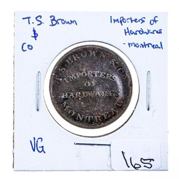 TS Brown Dollar Token - Importers of Hardware to  Montreal