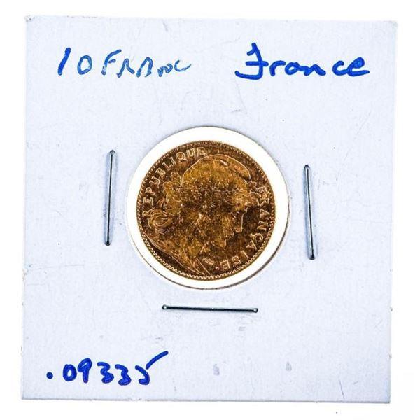 France 10 Francs GOLD Coin - 1912