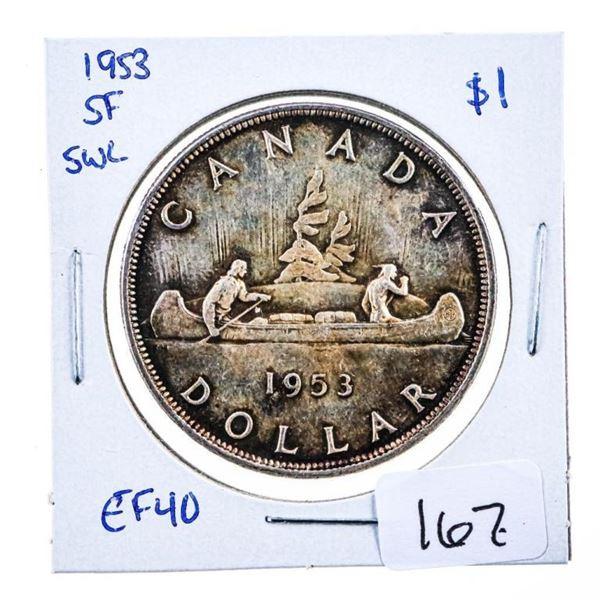 1953 Canada Silver Dollar SWL