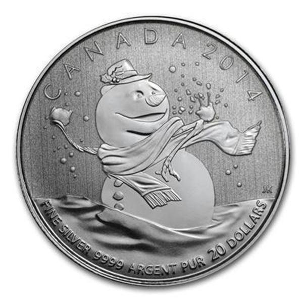 RCM 2014 ,9999 Fine Silver $20 Snowman