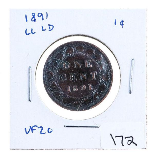 1891 LL LD Canada Large Cent