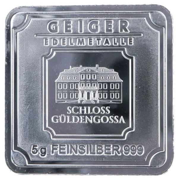 Geiger Germany Mint Square Bullion Bar -  Serialized - Glows In The Dark