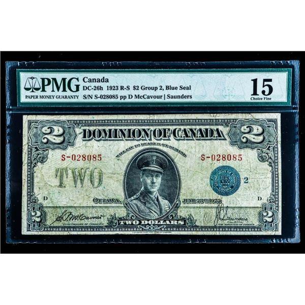 Dominion of Canada 1923 Blue Seal PMG Choice Fine  15