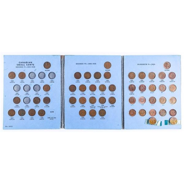 Estate Vintage Whitman Book - Collection of 1 Cent  Coins