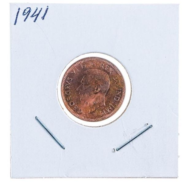 1941 Canada King George One Cent Coin
