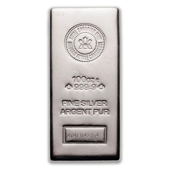 Prestige - Royal Canadian Mint .9999 Fine Silver  100oz Bar. Highly Sought After Canadian Silver.  (