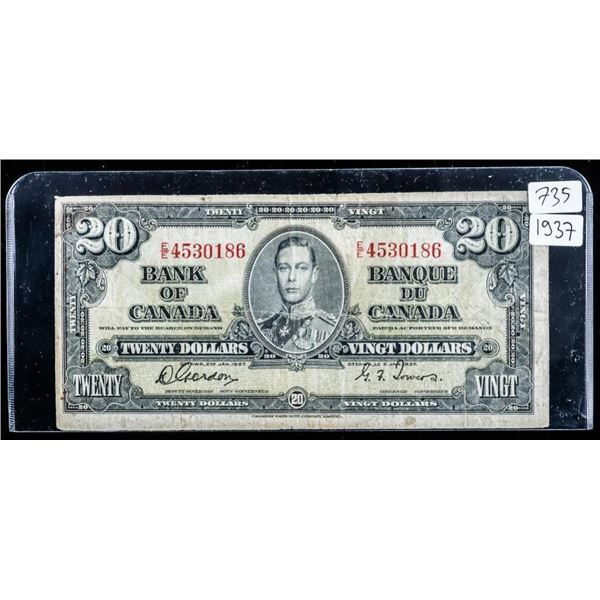 Bank of Canada 1937 $20 (735)