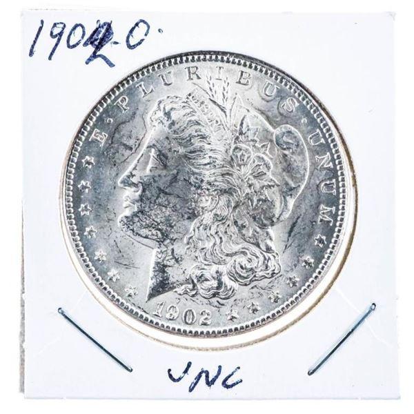 """1902 """"O"""" USA Silver Morgan Dollar Coin UNC"""