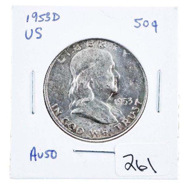 1953D US Silver 50 Cents