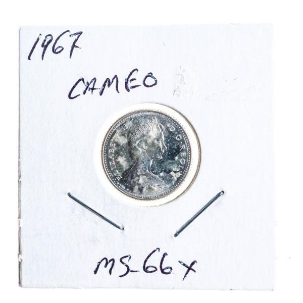 1967 Canada Silver Ten Cents MS66x