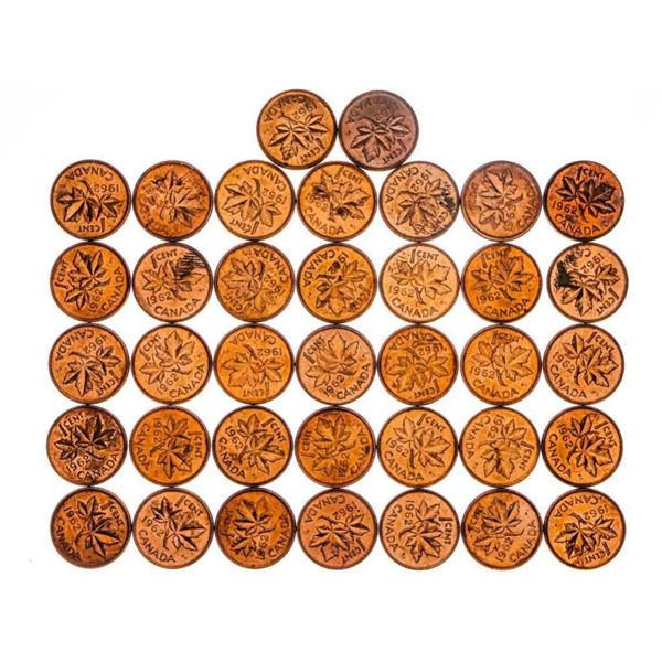 Bag Lot of 1962 Canada One Cent Coins BU