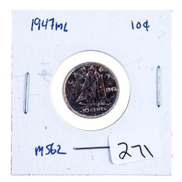 1947MLSilver 10 Cents MS62