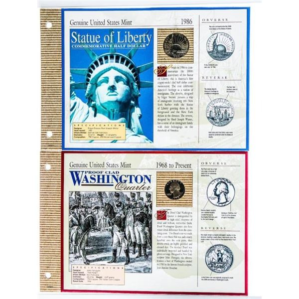 Statue of Liberty Folio Coin Display