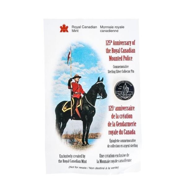 RCM -925 Sterling Silver Collector Pin RCMP