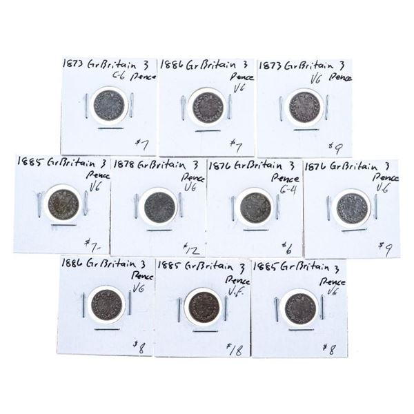 Group of 10 Great Britain Coins Mixed